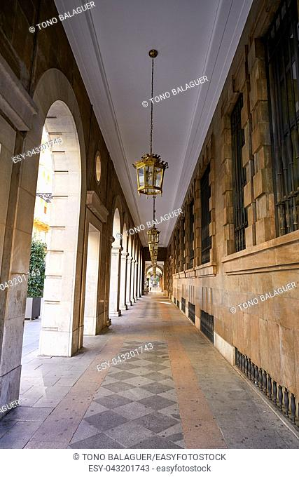 Granada Arcades in Angel Ganivet street of Andalusia Spain