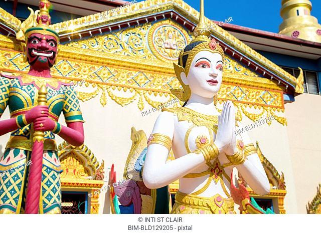 Large Buddha statue outside Wat Chayamangkalaram temple, George Town, Penang, Malaysia