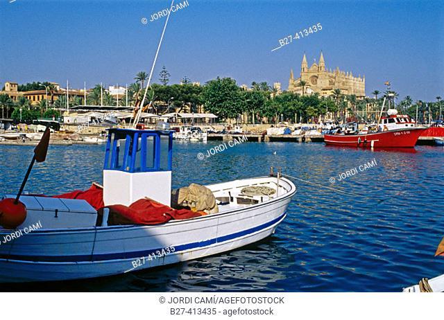 Fishing port, Palma de Mallorca. Majorca, Balearic Islands, Spain