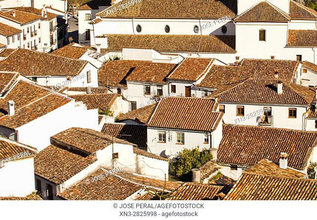 Grazalema town, Parque Natural, Natural Park Sierra de Grazalema, White Towns, Pueblos Blancos, Cadiz province, Andalusia, Spain, Europe