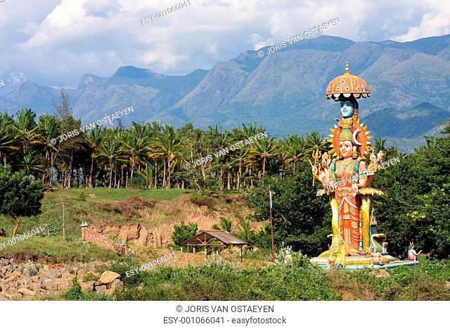 Hindu statue in Kerala, South India