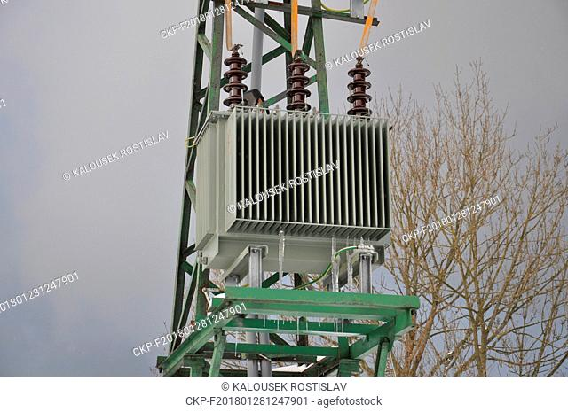 High voltage transformer for low voltage, Czech Republic, 2018. (CTK Photo/Rostislav Kalousek)