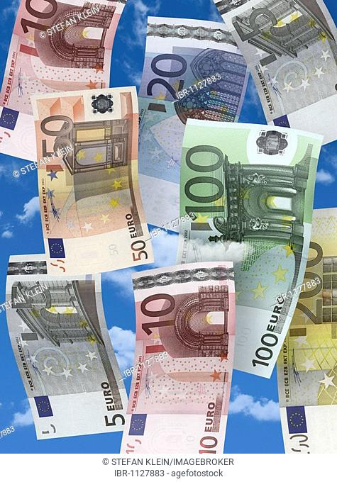 Symbolic Picture For Money Rain Stock Photos And Images Age Fotostock