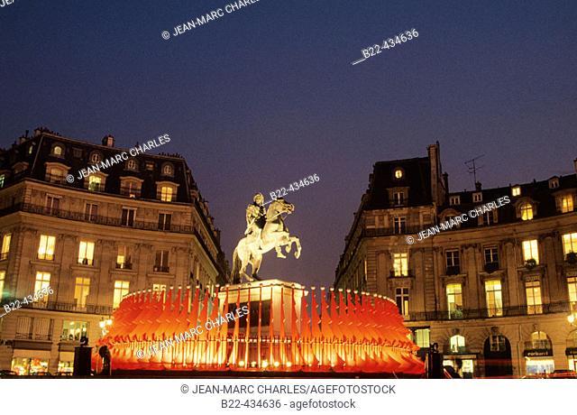 Statue of king Louis XIV. Place des Victoires. Paris. France