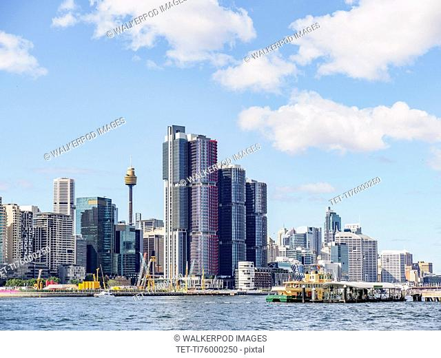 Australia, New South Wales, Sydney, City skyline with skyscrapers