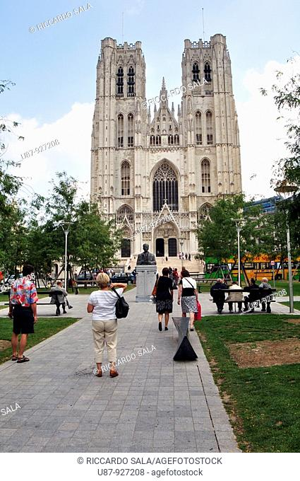 Belgium, Brussels, St Michael and St Gudula Cathedral