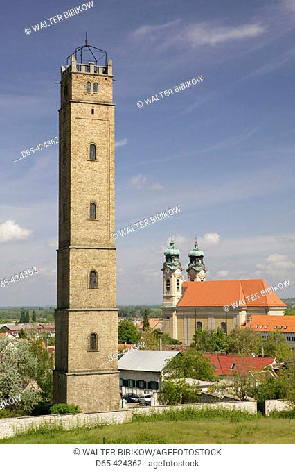 Holy Cross Church & Calvary Hill Lookout Tower. Tata. Western Transdanubia. Hungary. 2004