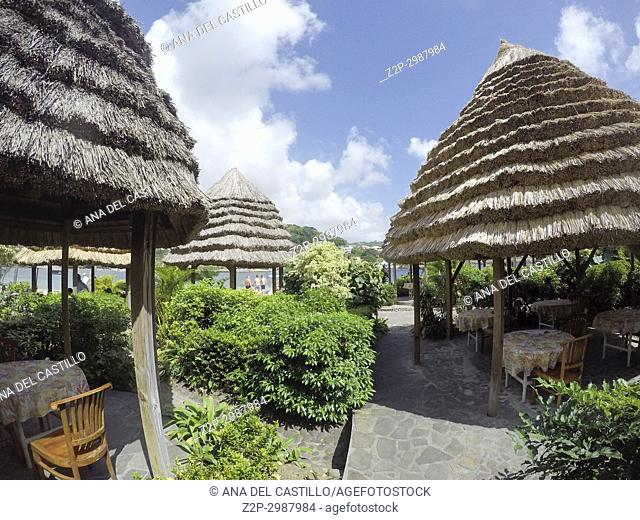 Luxury beach resort in Young Island, Saint Vincent And The Grenadines Caribbean sea