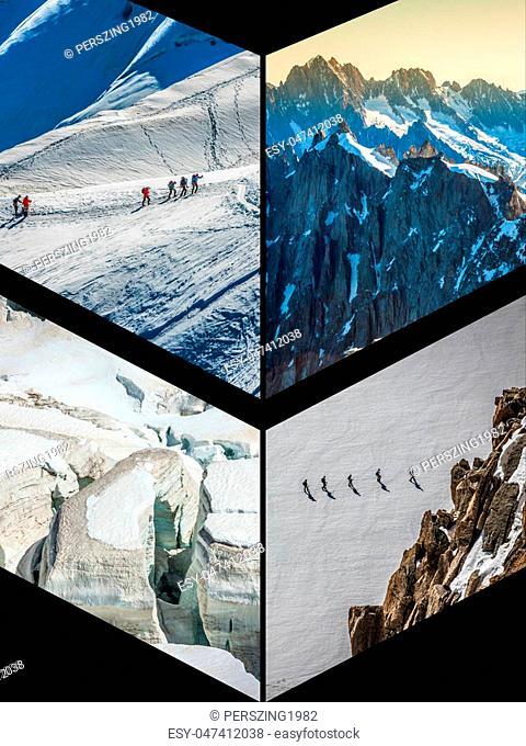 Collage of Chamonix Mont Blanc, France