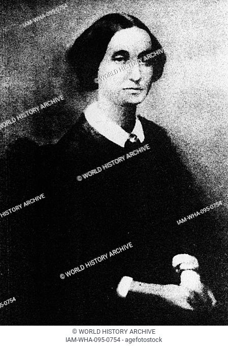 Photograph of Clara Maffei (1814-1886) an Italian woman of letters and backer of the Risorgimento. Dated 19th Century