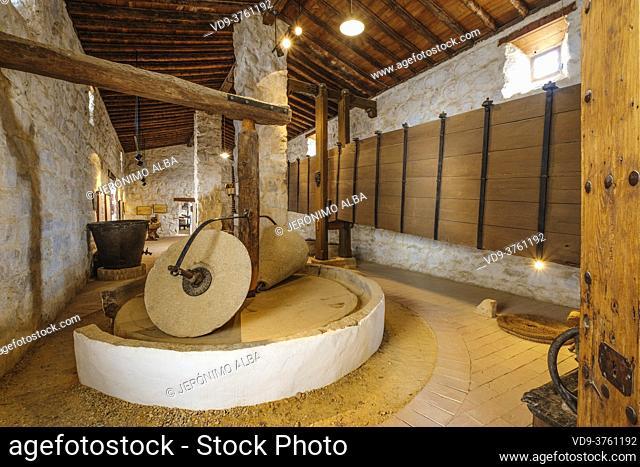 Torre press, Museo de la Cultura del Olivo. Museum cultural history of the olive tree, Puente del Obispo. Baeza, Jaen province, Andalusia