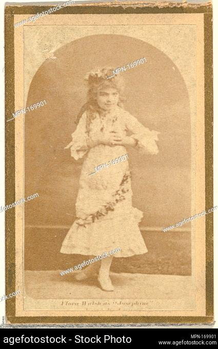 Flora Walsh as Josephine, from the Actresses and Celebrities series (N60, Type 2) promoting Little Beauties Cigarettes for Allen & Ginter brand tobacco products