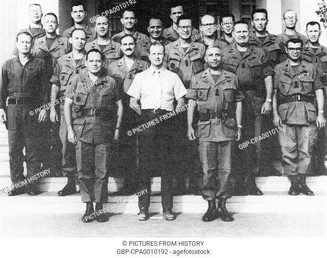 Vietnam: John Paul Vann (1924-1972) and his staff at the Pleiku headquarters, c. 1970
