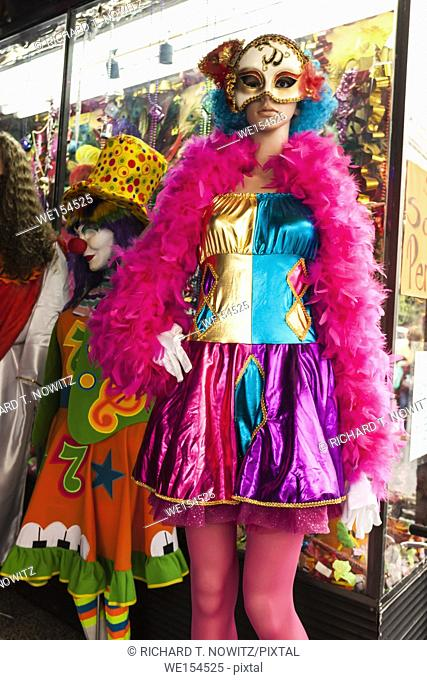 Colorful costume for for sale to be worn for Day of the Dead Celebrations, Mexico City, Mexico