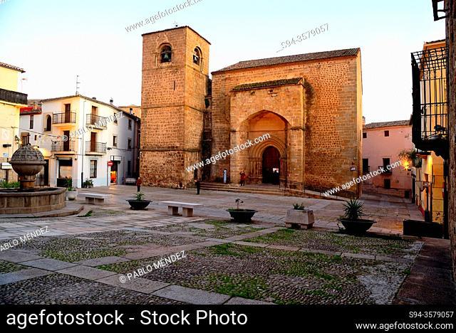 San Nicolas square: church of San Nicolas, Plasencia, Caceres, Spain