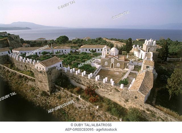 Aerial photograph of the Greek island of Peloponnesus