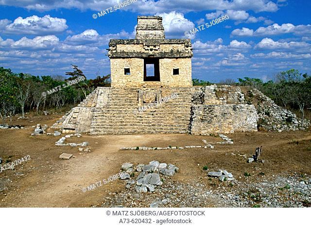 The Seven Dolls Temple. Dzibilchaltun. Yucatan. Mexico