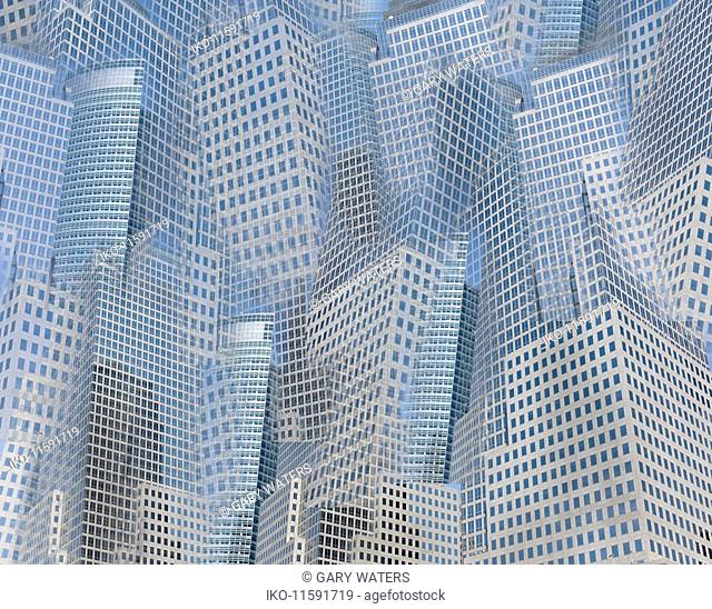 Abstract background pattern of lots of city skyscrapers