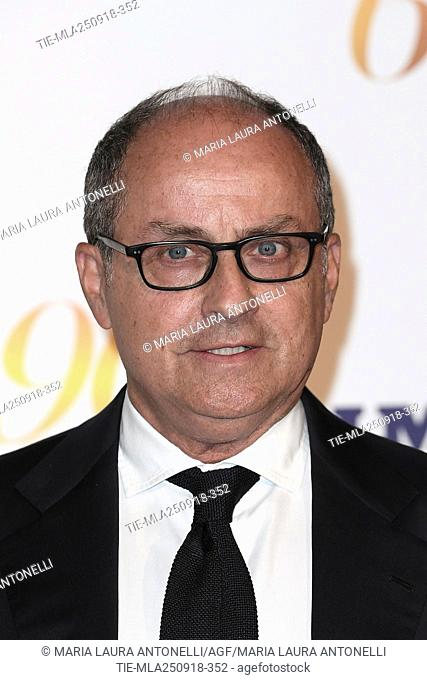 Director Pappi Corsicato during red carpet of 60/90 party, for 60 years of career and ninetieth birthday of Fulvio Lucisano, Italian Film Producer