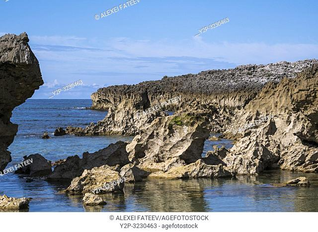 Rocky Atlantic coast in vicinities of Llanes, Asturias, Spain