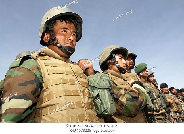 Afghan National Army ANA soldiers in Tarin Kowt, Afghanistan