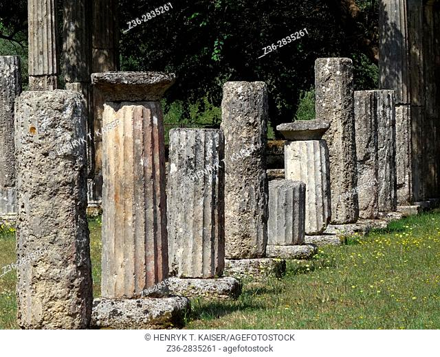 Palaestra at the sanctuary of Olympia, Greece