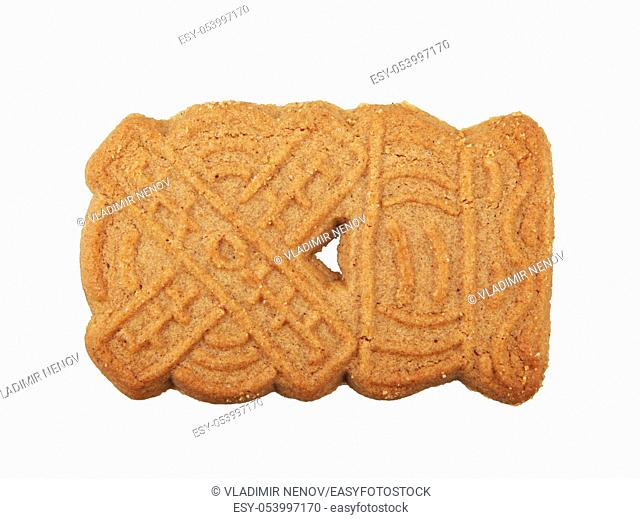 Close-Up Of Biscuit With Spices Against White Background