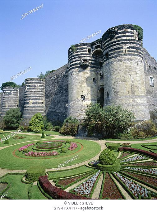 Angers, Castle, Chateau, D'angers, France, Europe, Holiday, Landmark, Loire valley, Tourism, Travel, Vacation, Walls