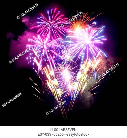 A large Fireworks Display event