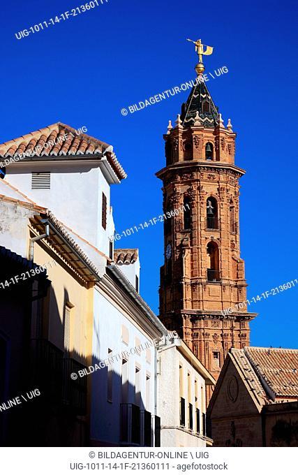 Antequera, Spain, Andalusia, church San Sebastian in the city center