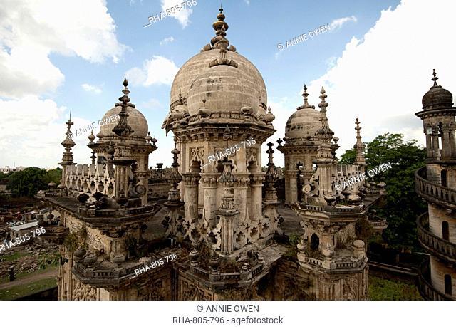 Mahabat Maqbara, built in 1892 over Nawab Mahabat Khan II's grave, with Islamic, Hindu and European influences, Junagadh, Gujarat, India, Asia
