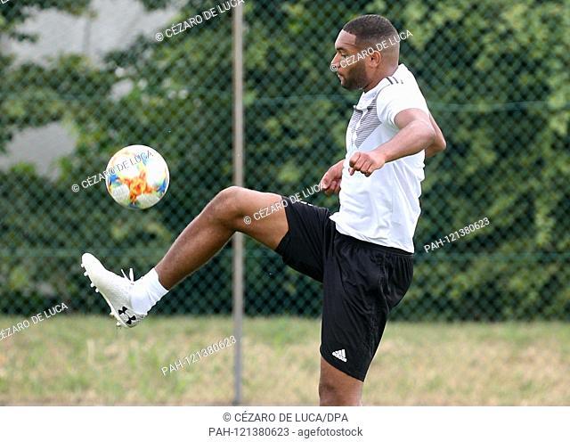 15.06.2019, Italy, Fagagna: Football, U21 Men, EM: Training Germany. Player Jonathan Tah plays the ball. Germany meets in the U21 European Championship on 17
