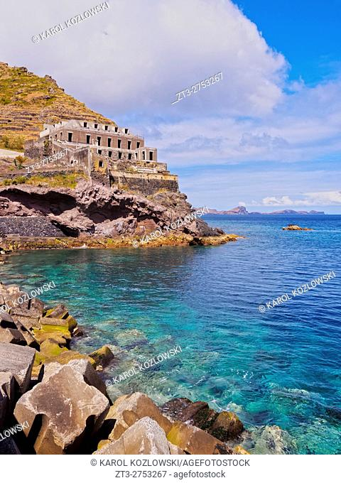 Portugal, Madeira, View of the castle in Machico.