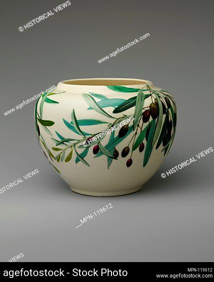 Vase. Decorator: Celia Laighton Thaxter (American, Portsmouth, New Hampshire 1835-1894 Isle of Shoals, New Hampshire); Manufacturer: Boston China Decorating...