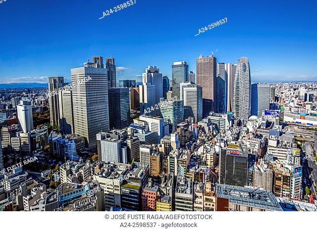 Japan, Tokyo City, Shinjuku District, Shinjuku Westside skyline