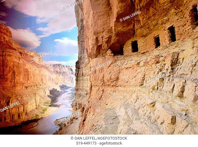 Nankoweap ruins, Colorado River, Grand Canyon, Arizona, USA
