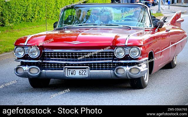 Cadillac Series 62 on meeting in Ystad, Scania, Sweden, Scandinavia
