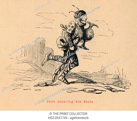 'A Dane securing his Booty', c1860, (c1860). From The Comic History of England, Volume I, by Gilbert A A'Beckett. [Bradbury, Agnew, & Co., London]