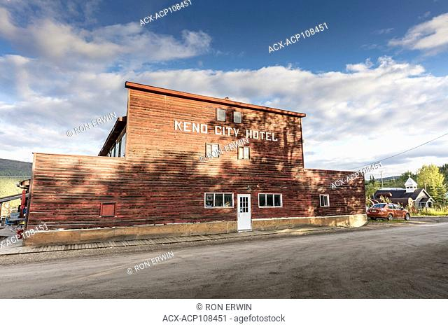Keno City Hotel, an operating hotel that is part of the Keno City Historical Buildings Walking Tour in Keno City, Yukon, Canada