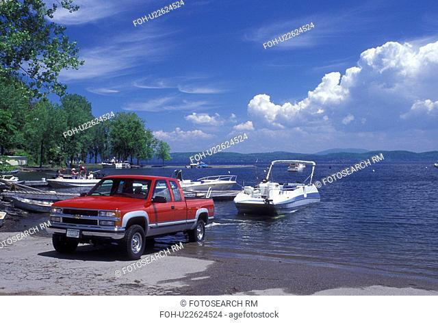 Vermont, VT, South Hero, Boat launch at Appletree Marina on Lake Champlain