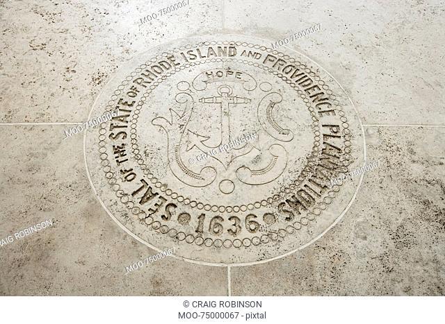 Seal of Rhode Island in Fort Bonifacio, Manila, Philippines