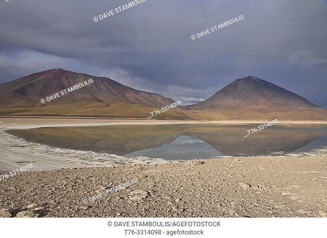 Licancabur Volcano and Laguna Verde, Salar de Uyuni, Bolivia