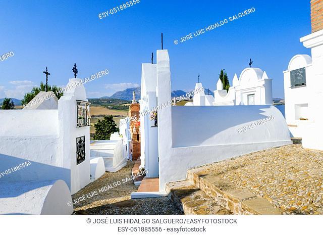 Casabermeja Cemetery, Málaga, Andalusia, Spain, Europe