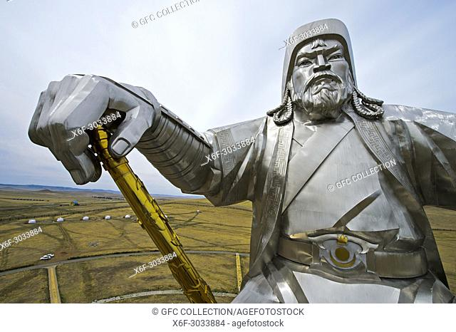 Genghis Khan Equestrian Statue with the golden whip, Chinggis Khaan Statue Complex, Tsonjin Boldog, Mongolia