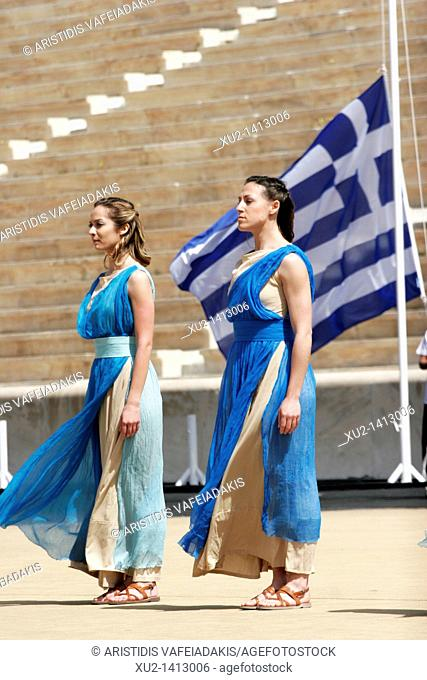 Revival of the Olympic games on modern times in Panathenaikon stadium in Athens