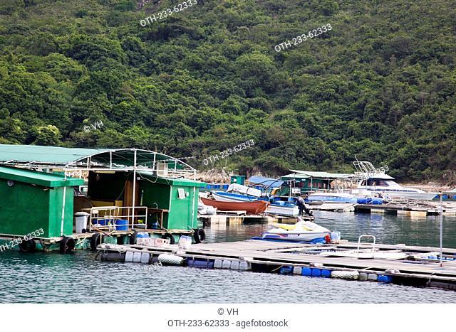 Fish farm at Kau Sai Chau, off Sai Kung, Hong Kong