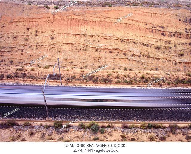 Train. Albacete province. Spain