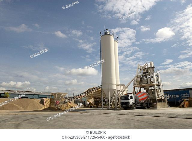 Cement works, Ipswich, Suffolk, UK
