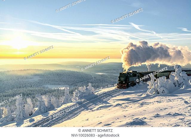 The Brocken railway, Harz National Park, Saxony-Anhalt, Germany