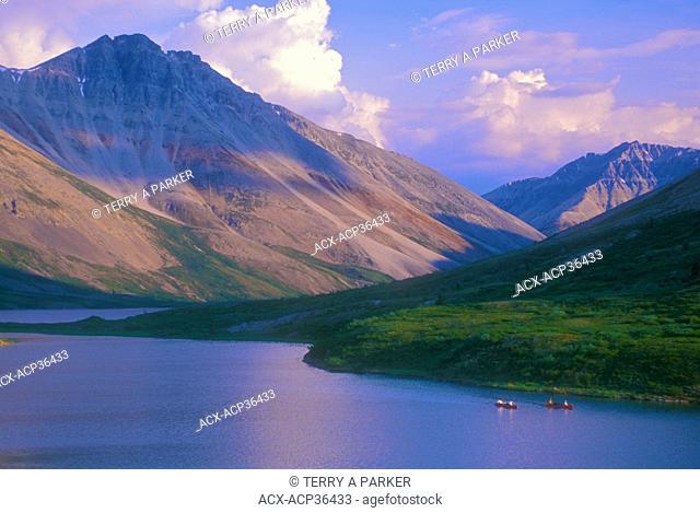 Canoeing Duo Lakes - Snake River, Yukon. Canada